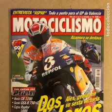 Coches y Motocicletas: MOTOCICLISMO N° 1646 (1999). ÀLEX CRIVILLÉ, HONDA CB 1100, SUZUKI GSXR 750, CAGIVA RAPTOR 1000,.... Lote 160432908