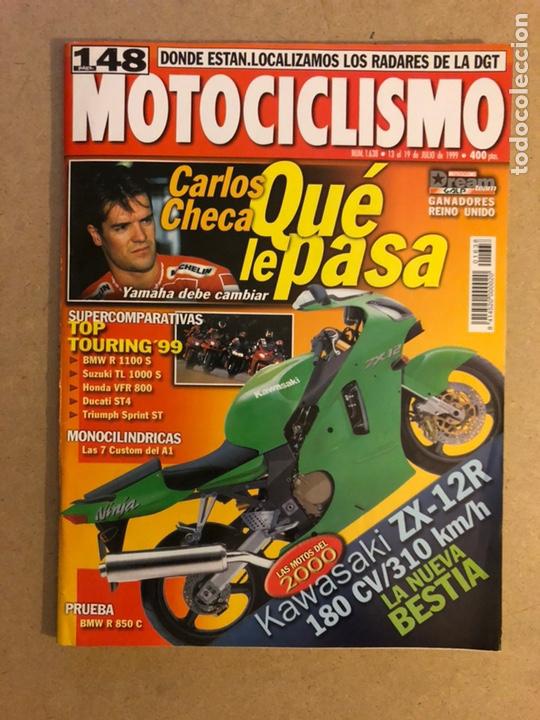 MOTOCICLISMO N° 1638 (1999). KAWASAKI ZX-12R, BMW R 1100 S, DUCATI ST4, TRIUMPH SPRINT ST,... (Coches y Motocicletas - Revistas de Motos y Motocicletas)