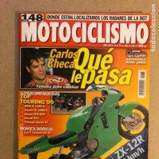 Coches y Motocicletas: MOTOCICLISMO N° 1638 (1999). KAWASAKI ZX-12R, BMW R 1100 S, DUCATI ST4, TRIUMPH SPRINT ST,.... Lote 160432974