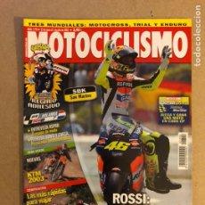 Coches y Motocicletas: MOTOCICLISMO N° 1792 (2002). PEGATINA UKAWA, COMPARATIVA (BMW K 1200 RS, HONDA CBR 1100 XX, KAWA ZZ-. Lote 160433220