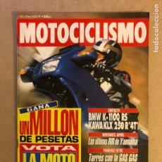 Coches y Motocicletas: MOTOCICLISMO 1299 (1993). BMW K-1100 RS, KAWA KLX 250 R4T,.... Lote 160433314