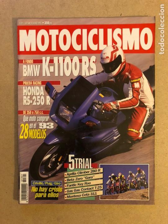 MOTOCICLISMO N° 1301 (1993). BMW K-1100 RS, HONDA RS-250 S, APRILIA CLIMBER 280 R,... (Coches y Motocicletas - Revistas de Motos y Motocicletas)
