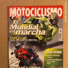 Coches y Motocicletas: MOTOCICLISMO N° 1780 (2002). HONDA CBR 1200 XX Y 900 RR, HONDA DEAUVILLE 650,.... Lote 160433410