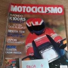 Coches y Motocicletas: REVISTA MOTOCICLISMO 1154 * BIMOTA TESI + BMW K 100 RS + HONDA CBR 250 + DUCATI MONO * 58. Lote 160465650