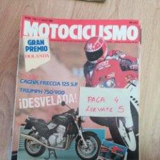 Coches y Motocicletas: REVISTA MOTOCICLISMO 1167 * CAGIVA FRECCIA 125 + TRIUMPH 750 / 900 * 58. Lote 160467994