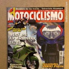 Coches y Motocicletas: MOTOCICLISMO N° 1649 (1999). HONDA CBR 900 RR, KAWASAKI ZX-12R, SUZUKI GSXR 750,.... Lote 160541220