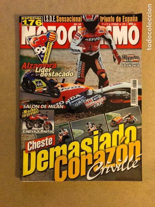 MOTOCICLISMO N° 1648 (1999). G.P. VALENCIA CRIVILLÉ, ALZAMORA, CAGIVA V-RAPTOR,... (Coches y Motocicletas - Revistas de Motos y Motocicletas)