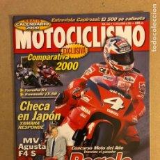 Coches y Motocicletas: MOTOCICLISMO N° 1663 (2000). KAWASAKI R1 VS KAWASAKI ZX-9R, CARLOS CHECA Y CAPIROSSI,.... Lote 160541553