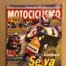 Coches y Motocicletas: MOTOCICLISMO N° 1661 (1999). MICK DOOHAN, YAMAHA R1, TRIUMPH SPRINT RS, YAMAHA TZM 250,.... Lote 160543233