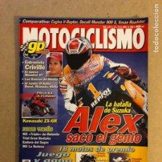 Coches y Motocicletas: MOTOCICLISMO N° 1678 (2000). CRIVILLÉ G.P. JAPÓN, KAWASAKI ZX-6R, CAGIVA V-RAPTOR VS DUCATI MONSTER. Lote 160543310