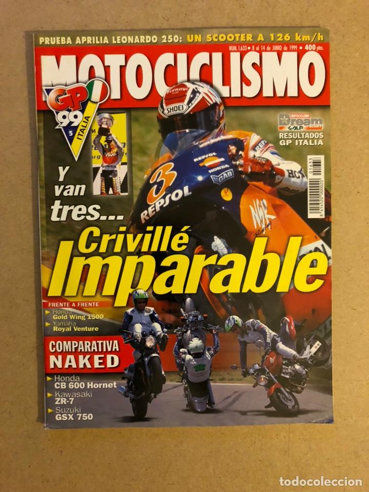 MOTOCICLISMO N° 1633 (1999). G.P. ITALIA CRIVILLÉ, HONDA GOLD WING 1500 Vs YAMAHA ROYAL VENTURE, COM segunda mano