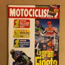 Coches y Motocicletas: MOTOCICLISMO N° 1655 (1999). DOBLE POSTER Y PEGATINAS ALZAMORA Y CRIVILLÉ, TRIUMPH TT 600, 22 MOTOS. Lote 160599572