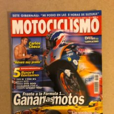 Coches y Motocicletas: MOTOCICLISMO N° 1589 (1998). MOTO VS FÓRMULA 1, BMW K 1200 RS, DUCATI ST2, HONDA VFR 800I, SUZUKI. Lote 160602653