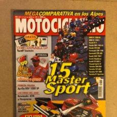 Coches y Motocicletas: MOTOCICLISMO N° 1641 (1999). COLECCIONABLE GP N°3, MAX BIAGGI, HONDA CBR 966 RR, APRILIA RSV 1000 SP. Lote 160604220