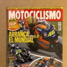 Coches y Motocicletas: MOTOCICLISMO N° 1832 (2003). KAWASAKI Z 1000, HONDA VTC 1300, BMW R 1150 ROCKSTER,.... Lote 160605118