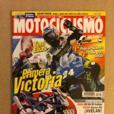 Coches y Motocicletas: MOTOCICLISMO N° 1741 (2001). TONI ELIAS, HONDA CBR 900 RR, TRIUMPH DAYTONA 955, CAGIVA RAPTOR 650,... Lote 160648877