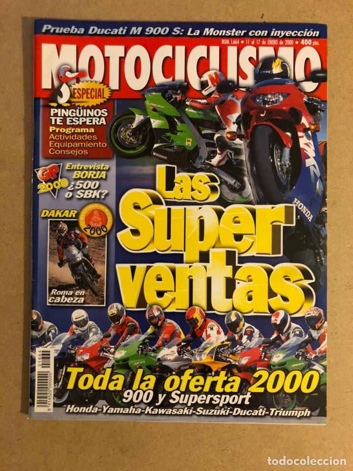 MOTOCICLISMO N° 1664 (2000). DUCATI MONSTER 900 SIE, HONDA, YAMAHA, KAWASAKI, TRIUMPH,... (Coches y Motocicletas - Revistas de Motos y Motocicletas)