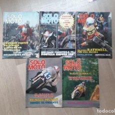 Coches y Motocicletas: LOTE 5 REVISTAS SOLO MOTO 1977. Lote 160659018