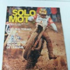 Coches y Motocicletas: REVISTA SOLO MOTO AÑO 1980 N°. 228. Lote 160726974
