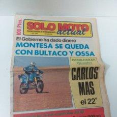 Coches y Motocicletas: PERIÓDICO SOLO MOTO. N°. 463 AÑO 1985. Lote 160728501