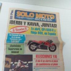Coches y Motocicletas: PERIÓDICO SOLO MOTO AÑO 1984 N°. 458. Lote 160728805
