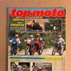 Coches y Motocicletas: TOP MOTO N° 11 (1991). BMW K-1, HONDA YUPI 90, PEUGEOT SV 125, VESPA SFERA 75, YAMAHA JOG 90, GILERA. Lote 160759798
