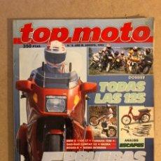 Coches y Motocicletas: TOP MOTO N° 8 (1992). DOSSIER TODAS LAS 125, BMW K 1100 LT, YAMAHA TDM, GAS GAS CONTAT 32, GILERA RC. Lote 160759841
