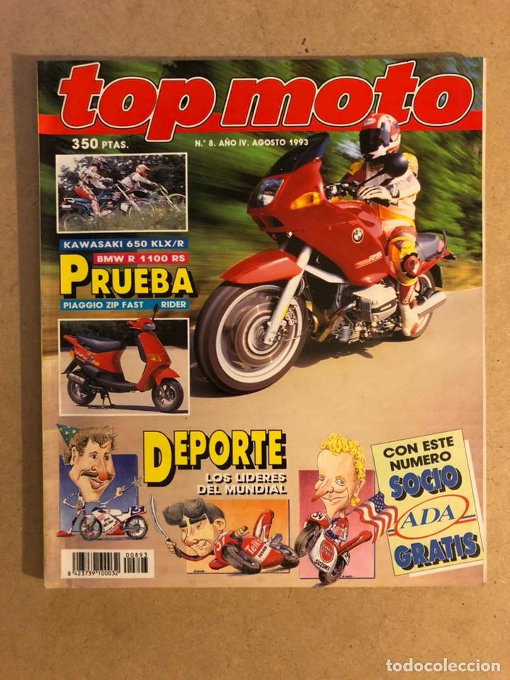 TOP MOTO N° 8 (1993). KAWASAKI 650 KLX/R, HONDA NSR 125, BMW R 1100 RS, HONDA CR 165,.. (Coches y Motocicletas - Revistas de Motos y Motocicletas)