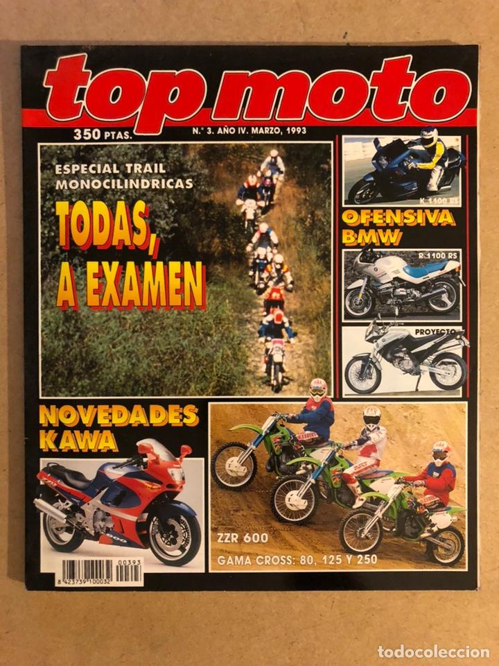 TOP MOTO N° 3 (1993). BMW K 1100 RS, R 1100 RS, KAWA ZZR 600 Y GAMA CROSS (80, 125,250),... (Coches y Motocicletas - Revistas de Motos y Motocicletas)