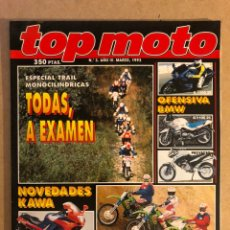 Coches y Motocicletas: TOP MOTO N° 3 (1993). BMW K 1100 RS, R 1100 RS, KAWA ZZR 600 Y GAMA CROSS (80, 125,250),.... Lote 160759949
