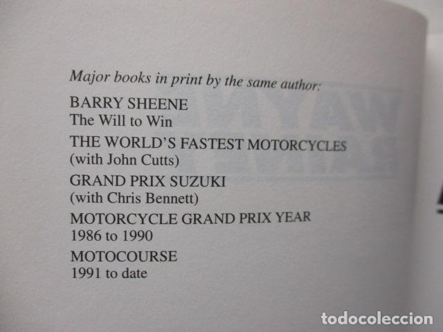 Coches y Motocicletas: LIBRO; WAYNE RAINEY - HIS OWN STORY - MICHAEL SCOTT (MUY BUEN ESTADO - EN INGLÉS) TAPA DURA. - Foto 7 - 160761678