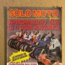 Coches y Motocicletas: SOLO MOTO TREINTA N°76 (1989). COMPARATIVA TRAIL, CUSTOM, TRIAL, HONDA CRM 75 R,.... Lote 160896354