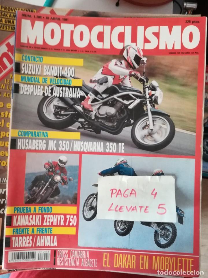 REVISTA MOTOCICLISMO 1208 * SUZUKI BANDIT-400 + HUSABERG MC 350 + KAWASAKI ZEPHYR 750 * 62 (Coches y Motocicletas - Revistas de Motos y Motocicletas)