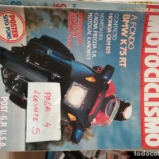 Coches y Motocicletas - revista motociclismo 1156 * bmw k75 rt + honda crm 125 + cagiva freccia s.r. * 62 - 160970050