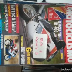 Coches y Motocicletas: REVISTA MOTOCICLISMO 1229 * BMW R 100 GS + HONDA YUPY 90 + PEUGEOT SV 125 + YAMAHA JOG 90 * 63. Lote 161742158
