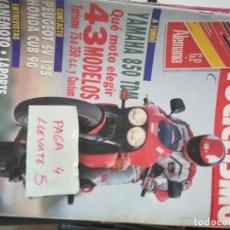Coches y Motocicletas: REVISTA MOTOCICLISMO 1214 * YAMAHA 850 TDM + PEUGEOT SV 125 + HONDA CUB 90 * 63. Lote 161750746