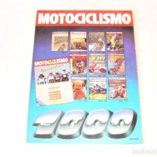 Coches y Motocicletas: MOTOCICLISMO EXTRA Nº 1000 AÑO 1987 HONDA CBR 1000F/ KAWA GPZ 1000RX/ SUZUKI GSX 1100R/ YAMAHA FZR. Lote 162452298