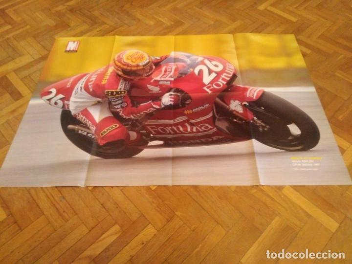POSTER REVISTA MOTOCICLISMO AÑO 1997. EMILIO ALZAMORA. REVERSO ALEX CRIVILLE. MEDIDAS. 81X51 CM. (Coches y Motocicletas - Revistas de Motos y Motocicletas)