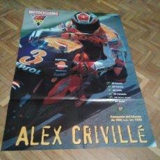 Coches y Motocicletas: POSTER REVISTA MOTOCICLISMO. ALEX CRIVILLA. GP. DE ESPAÑA. REVERSO ALEX CRIVILLE GP. CATALUÑA.. Lote 163512022