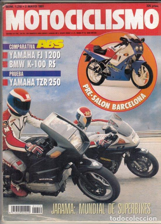 REVISTA MOTOCICLISMO Nº 1210 AÑO 1991. PRU: YAMAHA TZR 250. TM 125 ENDURO. COMP: YAMAHA FJ 1200 ABS (Coches y Motocicletas - Revistas de Motos y Motocicletas)