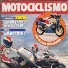 Coches y Motocicletas: REVISTA MOTOCICLISMO Nº 1210 AÑO 1991. PRUEBA: YAMAHA TZR 250.TM 125 ENDURO.COMP: YAMAHA FJ 1200 ABS. Lote 164199906