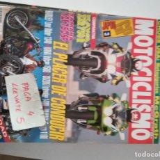 Coches y Motocicletas: REVISTA MOTOCICLISMO 1313 * KAWASAKI ZXR 750 R + YAMAHA YZF 750 SP + YAMAHA VIRAGO 1100 * 65. Lote 164503886