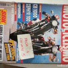 Coches y Motocicletas: REVISTA MOTOCICLISMO 1319 * HONDA CB 1000 + DUCTI SUPERMONO + KAWASAKI ZEPHYR 1100 * 65. Lote 164525562