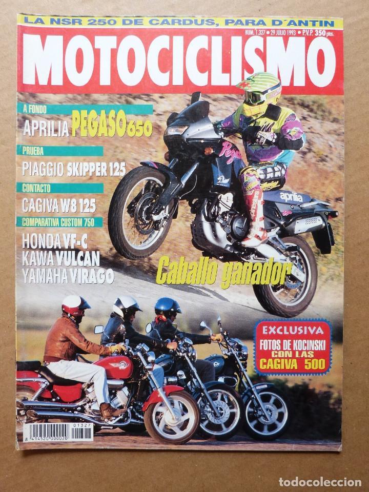 Motociclismo 1327 Aprilia Pegaso 650 Honda VF 750 C Kawasaki Vulcan Yamaha  Virago Piaggio Skipper