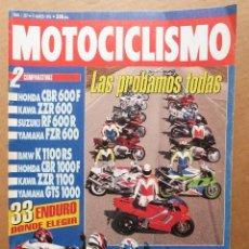 Coches y Motocicletas: MOTOCICLISMO 1307 BMW K 1100 RS KAWASAKI ZZR 600 1100 HONDA CBR 1000 F YAMAHA FZR 600 GTS. Lote 164570118