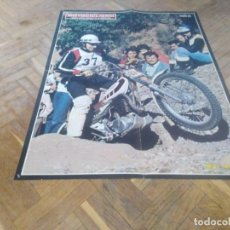 Coches y Motocicletas: POSTER REVISTA MOTOCICLISMO AO 1977. MIKE ANDREWS. MEDIDAS 42X54 CM APROX.. Lote 164630146