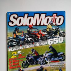 Coches y Motocicletas: REVISTA SOLO MOTO TREINTA Nº 314 SUZUKI GLADIUS DUCATI MONSTER BMW K1300 RS HONDA VTR KTM. Lote 164940754