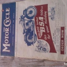 Coches y Motocicletas: REVISTA MOTOR CYCLE 1946. Lote 165099378