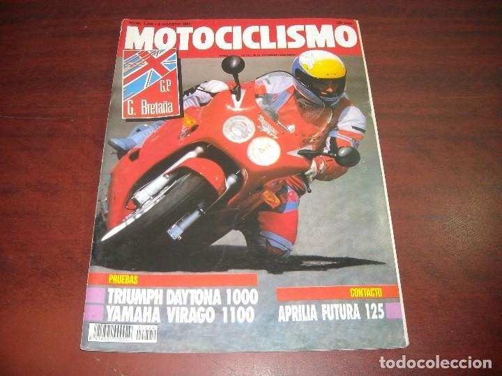 REVISTA MOTOCICLISMO - AÑO 1991 - Nº 1224 -GP BRETAÑA- TRIEMPH 1000 YAMAHA VIRAGO 1100- VER DETALLES (Coches y Motocicletas - Revistas de Motos y Motocicletas)