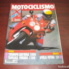 Coches y Motocicletas: REVISTA MOTOCICLISMO - AÑO 1991 - Nº 1224 -GP BRETAÑA- TRIEMPH 1000 YAMAHA VIRAGO 1100- VER DETALLES. Lote 165746870